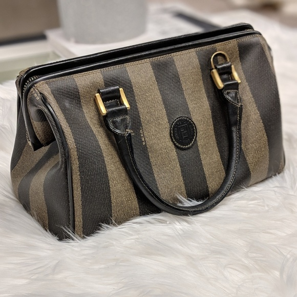 760fadfb8d Fendi Handbags - Fendi Stripe Doctor Bag Vintage   Authentic